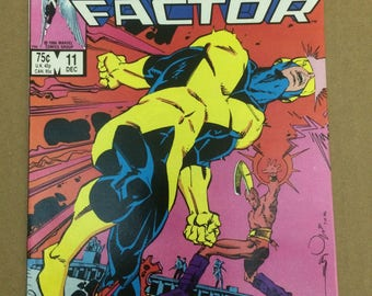X-Factor #11 - Classic Vintage Comic Book - Awesome Cyclops Cover!!!!