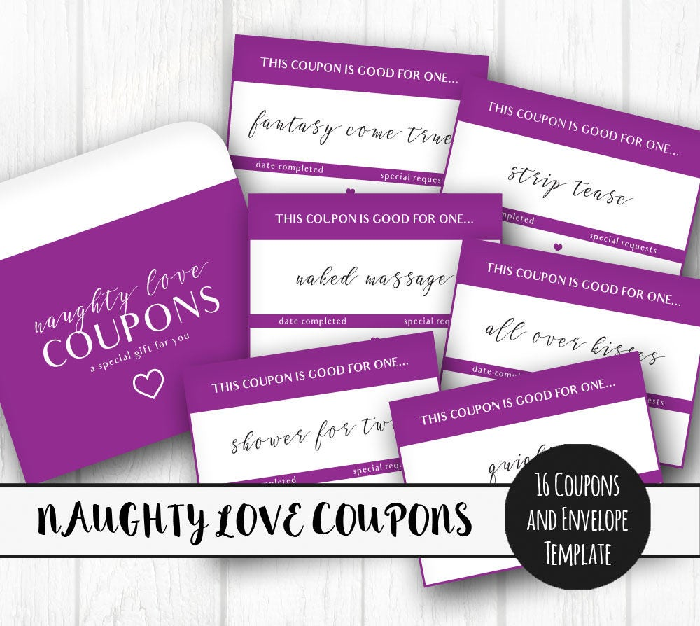 This is a photo of Satisfactory Printable Naughty Coupons