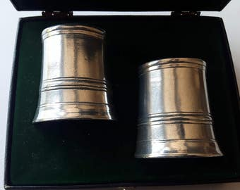 Vintage Norwegian Pewter shotglasses