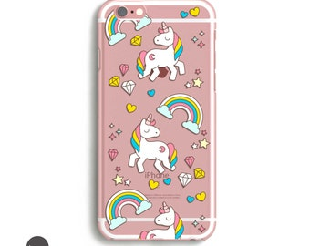 Unicorn iPhone 7 Case, Unicorn iPhone 7 Plus case, Unicorn iPhone 6 Case, Unicorn Phone Case, Rainbow iPhone Case, Kawaii iPhone 6 Case