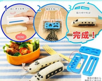 Bullet Train Bento Rice Mold and Seaweed Nori Cutter Set Sushi mold Onigiri set