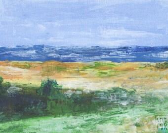 Abstract Beach Acrylic Painting Print
