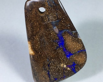 Minus 15 % 63.5ct Boulder Opal Cabochon Large Focal Bead Purple Fire Free Shipping