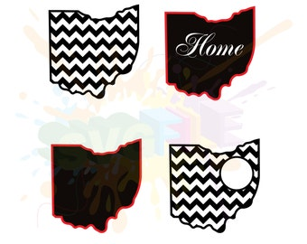 Ohio SVG Files for Cutting State Cricut Designs - SVG Files for Silhouette - Instant Download