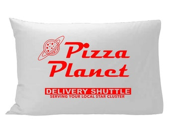 Pizza Planet Pillowcase / Toy Story Pillowcase / Disney bedding / Disney Pillowcase / Disney home decor