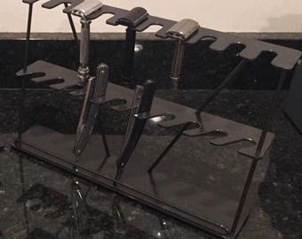 Custom Two Tier Razor Stand dor 10 DE and 10 Straight Razors
