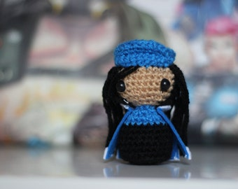 Mini Ana Captain Amari Amigurumi - Overwatch