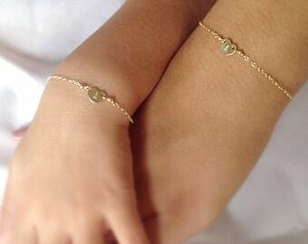 Mother Daughter bracelets, matching bracelet set, set of 2 bracelets, wedding, mother of the bride jewelry