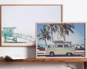 VW Van, VW bus, VW bug, Hippie Van Print, Retro Print, bus print, bus art, Retro Bus Print, Retro Bus Art, Vintage Photo, surf art, 60 decor