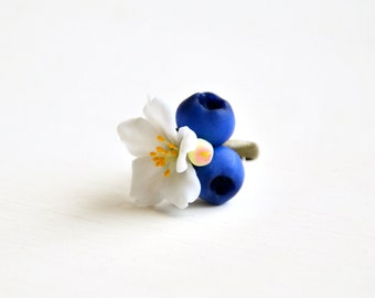 natural ring, natural jewelry, berry jewelry, berry ring, berry, blueberry ring, flower ring, flower jewelry,