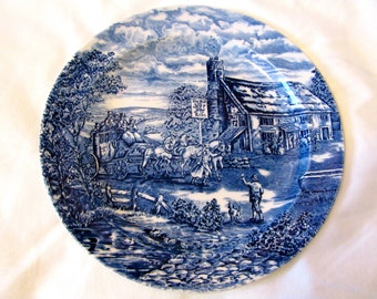 Vintage 60s Post House Wood and Sons Plate, Made in England