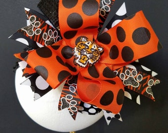 Eye Of The Tiger Over The Top Boutique Hairbow Headband