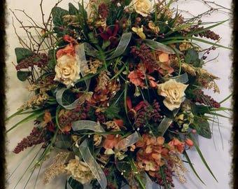 Summer Wreath Front Door Wreaths, House Warming Gift, Summer Door Wreaths, Fall Wreath, Fall Door Wreaths, Fall Wreath For Front Door
