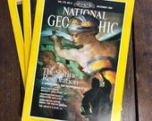 National Geographic Magazines - June, August and December 1989, Your Choice of Issue(s), Vintage National Geographic, Vintage Magazine