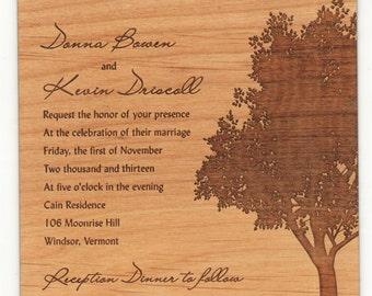 Wood Invitations (Engraved)