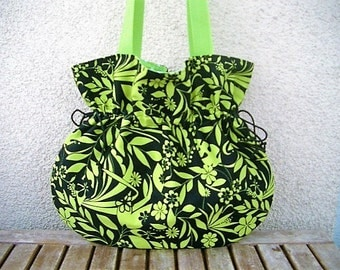 Bag Black Green balloon bag shoulder bag