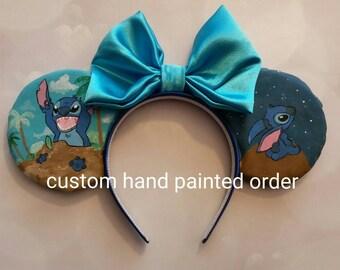 Custom hand painted Mickey Inspired ears