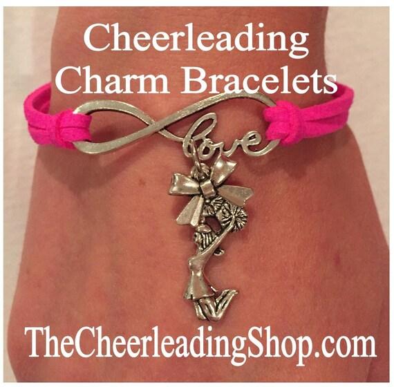 Cheer Charm Bracelets: Cheerleading Jewelry Cheerleading Gift Cheerleader Charm