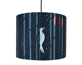 Woodpecker Forest Lamp Shade