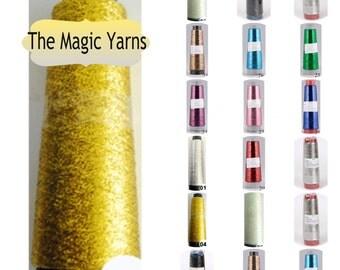 Lame metallic thread, knitting, crochet, needlework thread, needlepoint thread, jewellery making,1000 m in a spool (1090 yards),metal thread