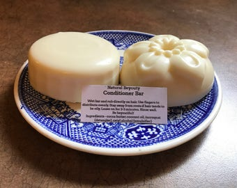 Conditioner Bar, Detangler, All-natural, Homemade, Works well with most hair types
