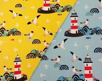 Lighthouse Island Printed Cotton Jersey