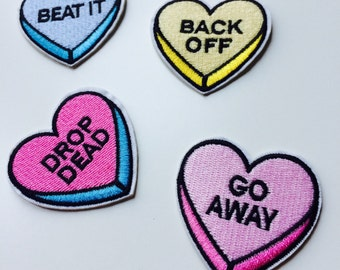 Patches | Patch | Set | Hipster | Trendy | Emo | DIY | Fashion | Drop Dead | Beat It | Back Off | Go Away