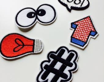 Sale | Cool | Hashtag | # | Comic | Kawaii | Patch | Cute | Hipster | Trendy | Emo | DIY | Fashion | Retro