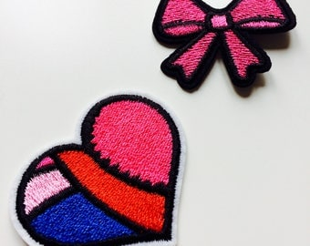 Bow | Heart | Ribbon | Kawaii | Patch | Cute | Hipster | Trendy | Emo | DIY | Fashion | Retro