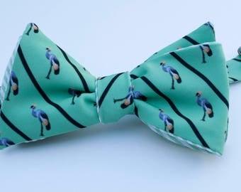 Crane Bow Tie - green
