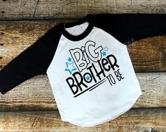 Big Brother to Be, Big Brother shirt, Big Brother girt, Pregnancy announcement, Boys shirt, toddler shirt, Big Brother Announcement
