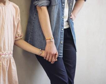 Angel caller bracelet - Pink gold plated