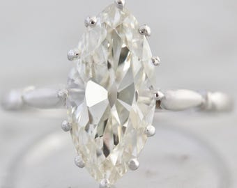 Vintage Marquise Diamond Engagement Ring | Valentina