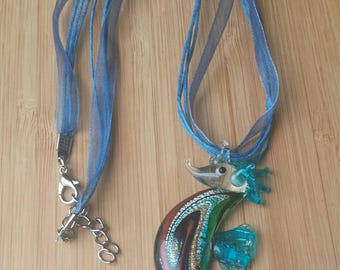 Lamp Work Sea Horse Necklace