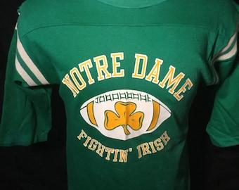 Vintage 1980's  Notre Dame Fighting Irish  Jersey T-Shirt