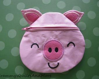 Pig Zippered Bag