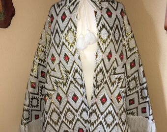 Amazing Bohemian Poncho with Arm Holes and Pockets!