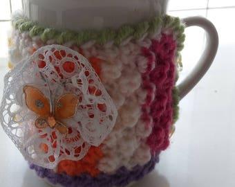 Knitted Mug Cozy , Cup Warmer Knit Mug , Coffee Cup Cozy, Tea Cozy