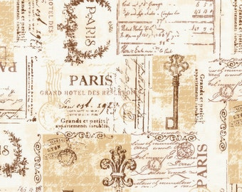 1/2 yd City of Lights Parchment Paris by Robert Kaufman Fabrics SRK16738265