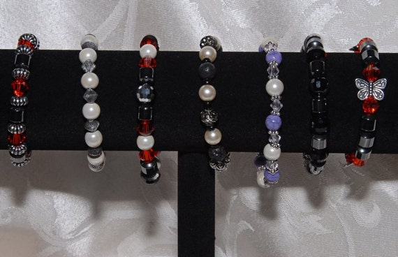Magnetic Therapy Bracelet Pain Relief. Request a Custom Order You design It. Unisex. Some Featuring Genuine Gemstones. Design Your Own!