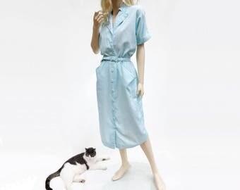 1980 Vintage Aquamarine Dress