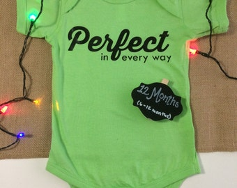 SALE: Perfect In Every Way Onesie 12 months (fits 6-12 months)