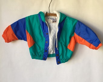 Vintage Jacket KIDS 2t - Fresh Prince - Youth Coat - Primary Colors - Boys or Girls - toddler