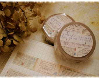 Cy Nature Masking Tape Antique Ticket