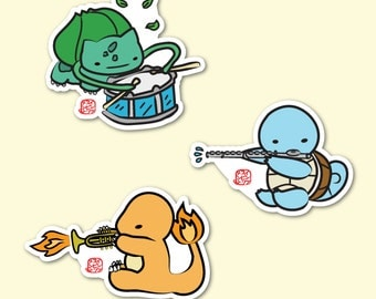 Musical Pokemon Sticker Set