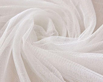 Very Soft white Tulle -40 inches long X 63 inches wide