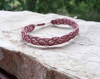 Friendship Bracelet, Pink  Macrame Bracelet