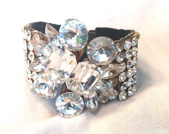 Vintage 1980's Beaded Cuff Bracelet