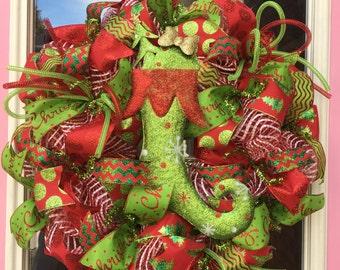 Festive stocking wreath!