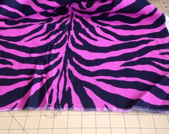 Pink and Black Zebra Fabric